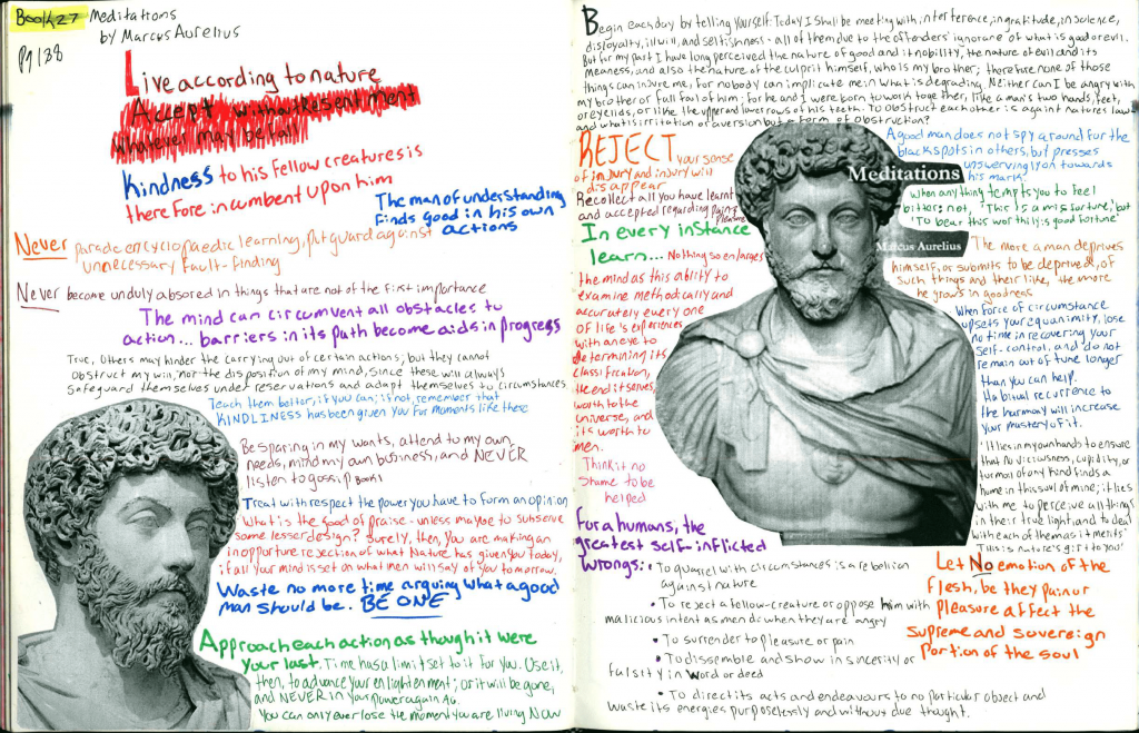 forces of habit Journal book summary for meditations by Marcus Aurelius